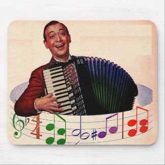 accordion player mouse pad