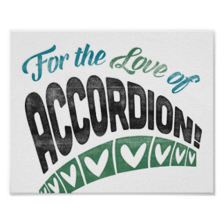 Accordion Poster Fun Music Art Print