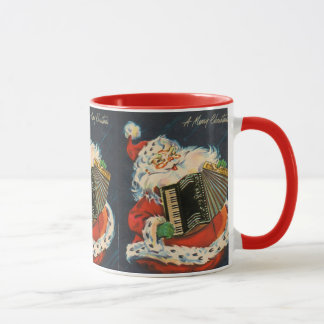 Accordion Santa Mug