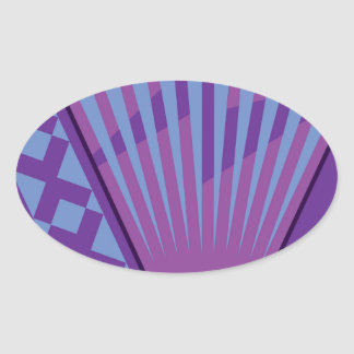 Accordion vector oval sticker