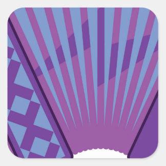 Accordion vector square sticker