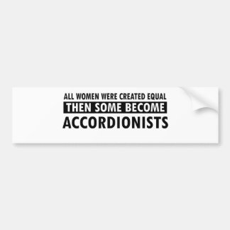 Accordionists music designs bumper sticker