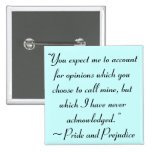 Account for Opinions Jane Austen Quote Badge