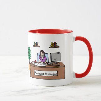 """Account Manager"" personalized cartoon mug"