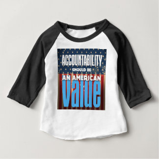 Accountability Should Be An American Value, Grunge Baby T-Shirt