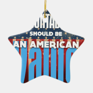 Accountability Should Be An American Value, Grunge Ceramic Ornament