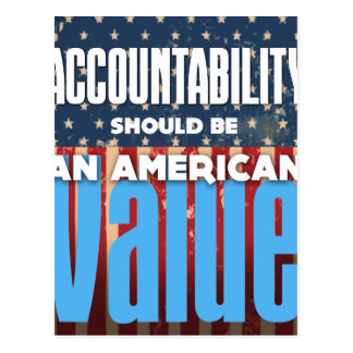 Accountability Should Be An American Value, Grunge Postcard