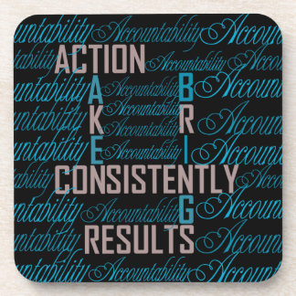 Accountability Word Art Quote Coasters