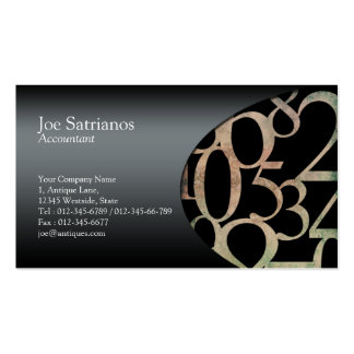 Accountant Business Card Side Numbers