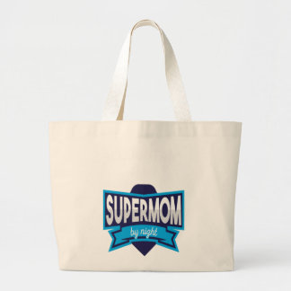 Accountant By Day Supermom By Night T Shirt - Wome Large Tote Bag