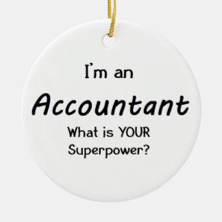 accountant ceramic ornament