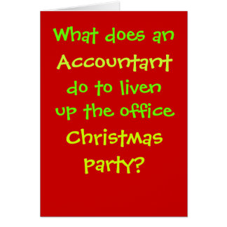 Accountant Christmas Cruel & Funny Christmas Joke Greeting Card