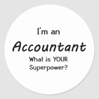 accountant classic round sticker