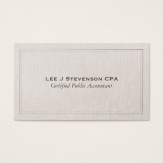 Accountant CPA Professional Simple Classic