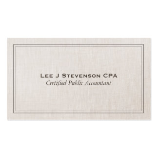 Accountant CPA Professional Simple Classic Pack Of Standard Business Cards