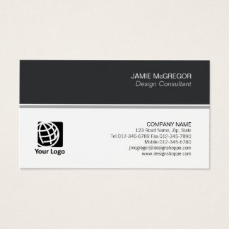 Accountant Finance Simple Minimal Professional Business Card