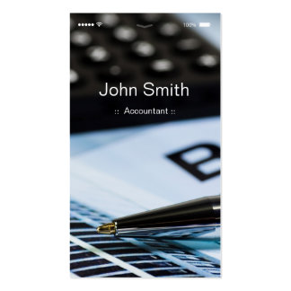 Accountant - iPhone iOS Customizable Flat UI Style Pack Of Standard Business Cards