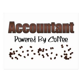 Accountant Powered By Coffee Postcard