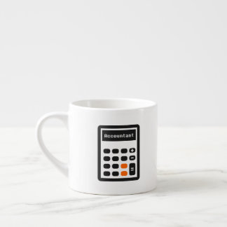 Accountant Saying with Calculator Keypad Espresso Cup