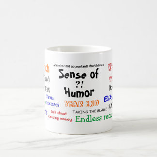 Accountant sense of humor?! basic white mug
