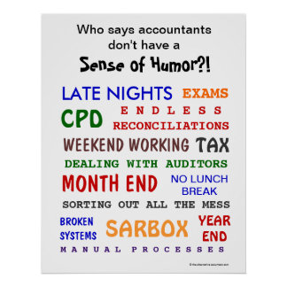 Accountant Sense of Humor Motivational Poster