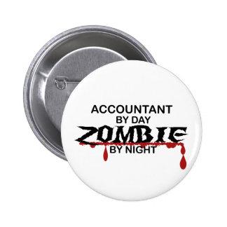Accountant Zombie 6 Cm Round Badge