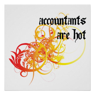 Accountants Are Hot Poster