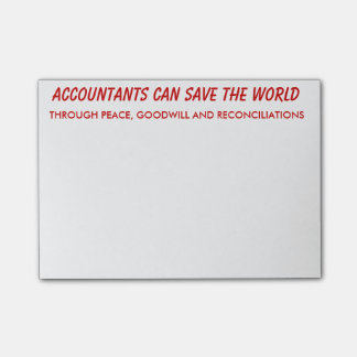 Accountants Can Save the World Post-it® Notes