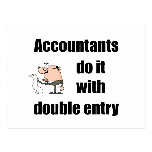 accountants do it with double entry post cards