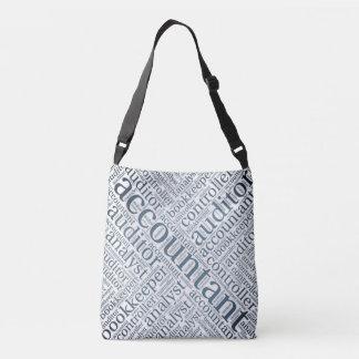 """Accountants' Word Cloud"" Crossbody Bag"