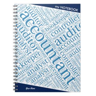 """Accountants' Word Cloud"" Spiral Notebook"