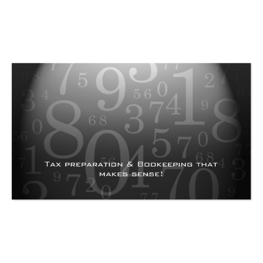 Accounting - Bookkeeping Business Card Gray