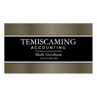 Accounting Business Card - Banner Black & Metal