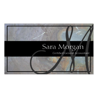 Accounting Business Card - Classy Monogram Texture