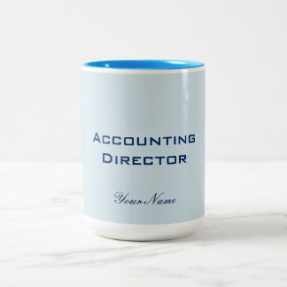 """ACCOUNTING DIRECTOR"" Two-Tone COFFEE MUG"