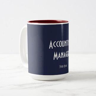 """ACCOUNTING MANAGER"" Two-Tone COFFEE MUG"