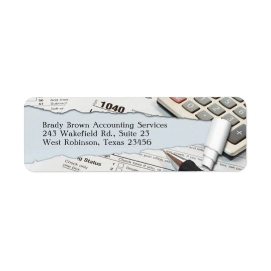 Accounting Return Address Label