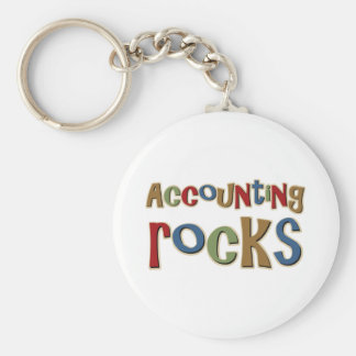 Accounting Rocks Basic Round Button Key Ring