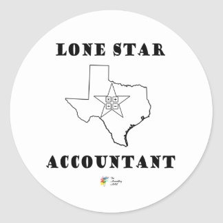Accounting Sticker - Lone Star Accountant - Texas