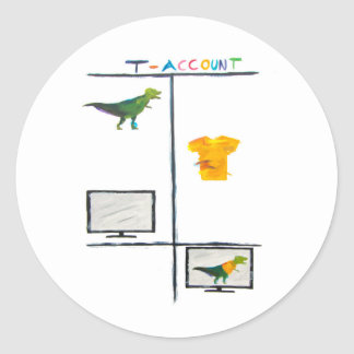 Accounting Sticker T-Rex T-Account