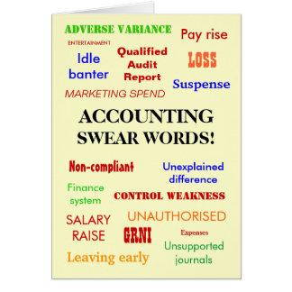 Accounting Swear Words! Accountant Humor Card