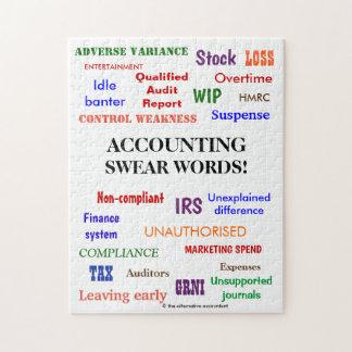 Accounting Swear Words Accountant Joke Jigsaw Puzzle