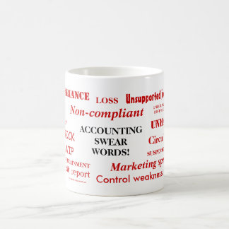 Accounting Swear Words! Annoying Joke Mug