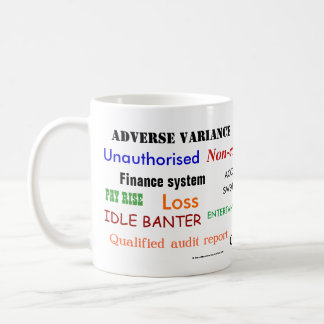 Accounting Swear Words!! Cruel Accountant Joke Coffee Mug