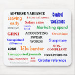 ACCOUNTING SWEAR WORDS mousepad (mulitcolour)