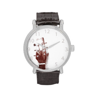 accoustic guitar head - jazz music wrist watch