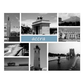 Accra bw postcard