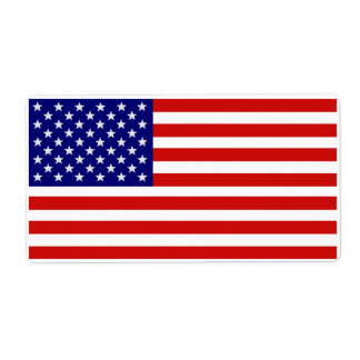 Accurate American Flag Label