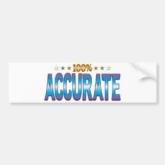 Accurate Star Tag v2 Bumper Sticker