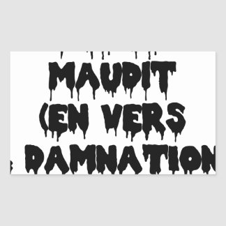 Accursed poet (IN WORMS AND DAMNATION) - Word Rectangular Sticker
